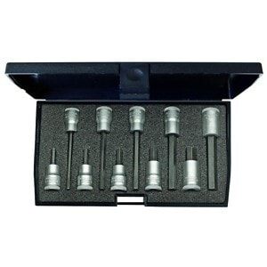 "Gedore 1509918 (Series IN30LKM) Screwdriver bit socket set 3/8"" 10 pcs in-hex 4-10 mm"