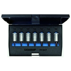 "Gedore 1509926 (Series ITX30 PM) Screwdriver bit socket set 3/8"" 7 pcs TORX T20-50"