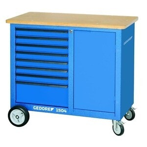 Gedore 1814931 (Series 1504 0701) Mobile workbench with 8 drawers